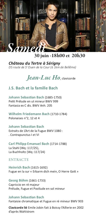 Programme Jean-Luc Ho